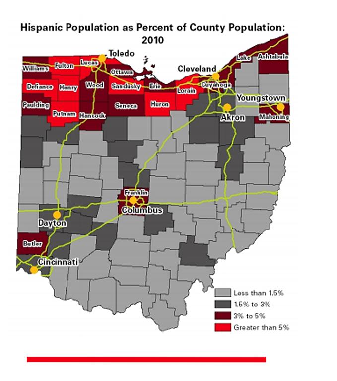 Ohios Hispanic Population 354674