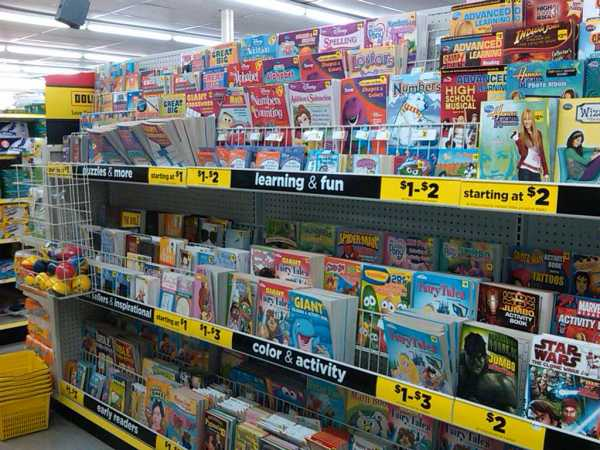 Libros en las tiendas de todo a un dólar