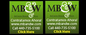 MB &W accepting a job