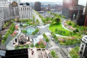 Traffic Patterns During Public Square Renovation