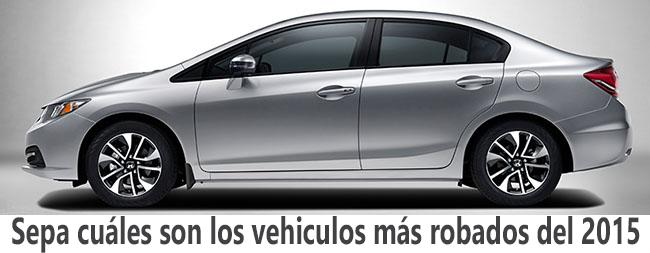 Vehiculos más robados del 2015