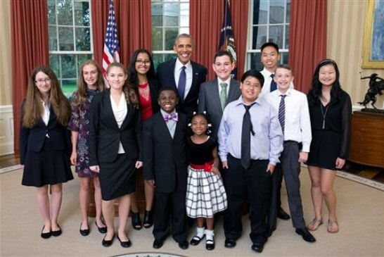 Design Lab student chosen as White House kid science advisor