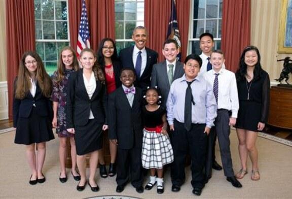 Design Lab student chosen as White House kid science advisor