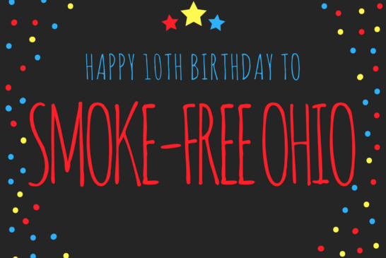 Public Health Organizations Celebrate 10th Anniversary of Ohio's Smoke-Free Workplace Act