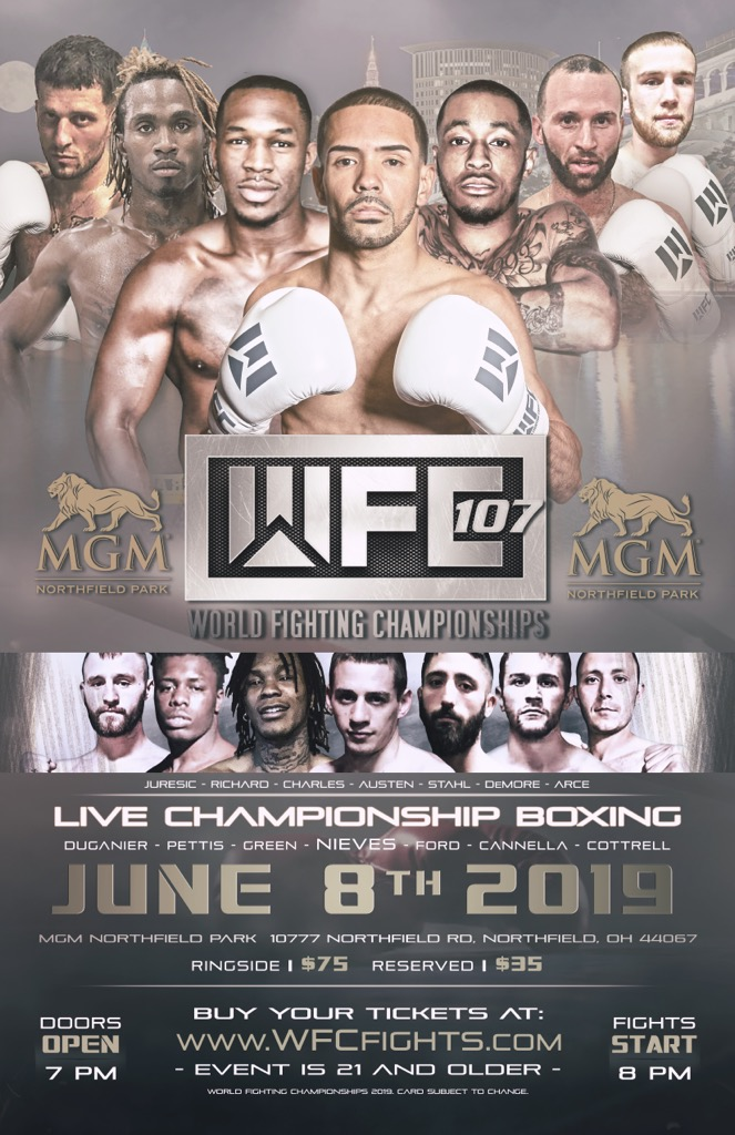 WFC 107 Brings Live Championship Boxing to MGM Northfield